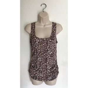 CAbi Pebble Print Ruching Side Tank